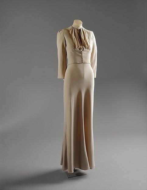 Wedding ensemble, Mainbocher (American, 1890–1976), silk, leather, straw, coq feathers, French