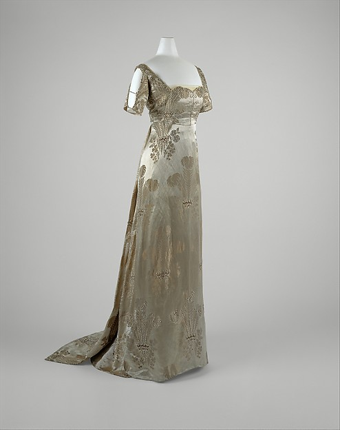 Evening dress, Weeks (French), silk, metal, glass, French