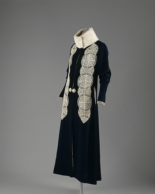 Coat, Paul Poiret (French, Paris 1879–1944 Paris), silk, wool, fur, leather, French
