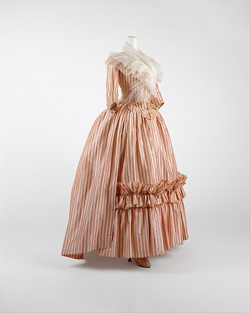 Robe à l'Anglaise, silk, French