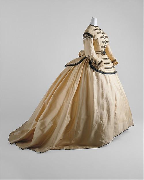 Dress, silk, mother-of-pearl, American