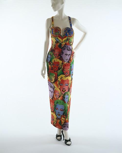 Evening dress, Gianni Versace (Italian, founded 1978), silk, glass, Italian
