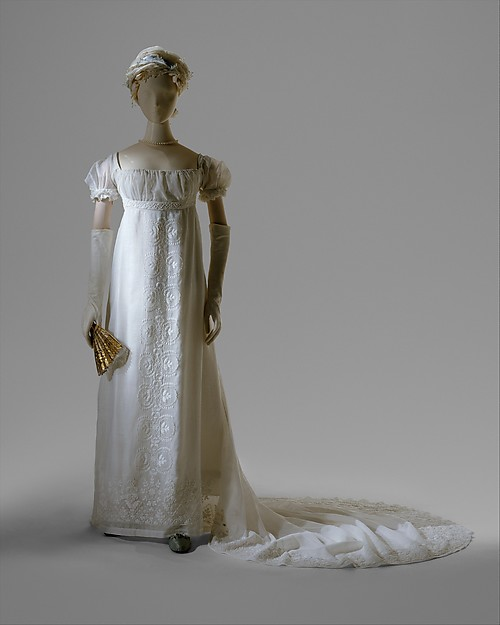 Evening dress, cotton, French