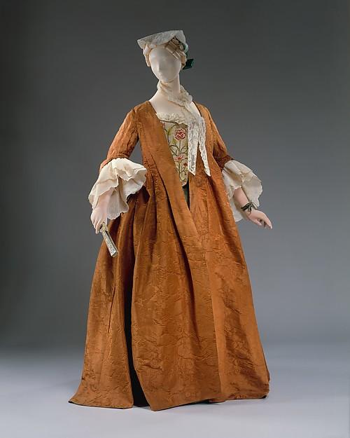 Dress, silk, flax, French