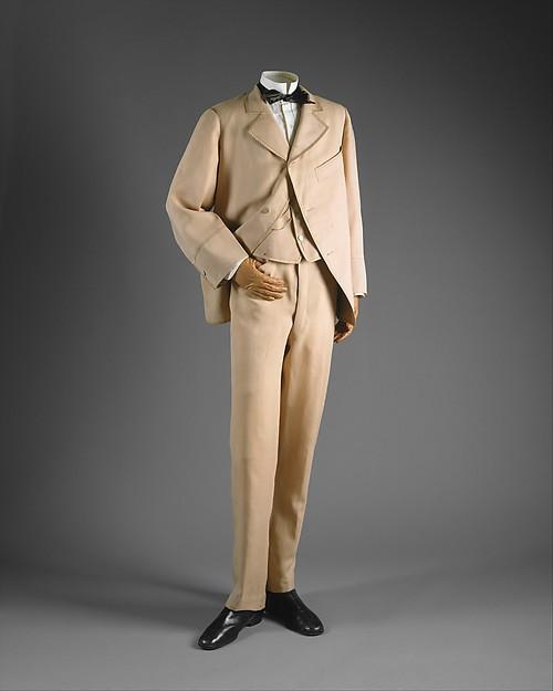 Suit, wool, silk, cotton, British