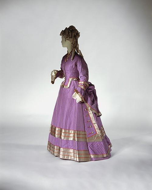 Dress, silk, probably British