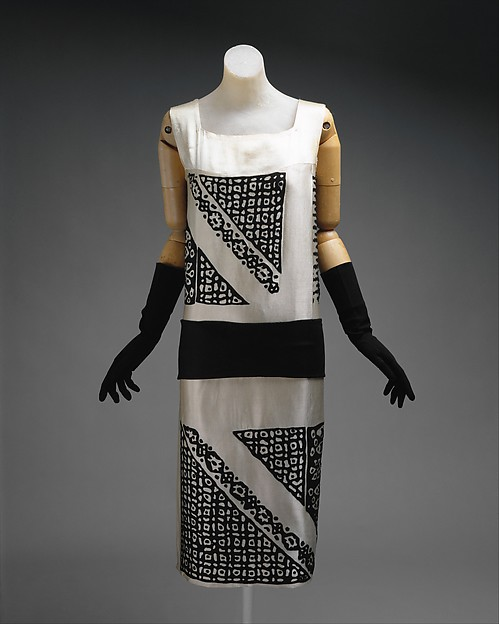 Dress, Drécoll (French, founded 1900), silk, wool, French