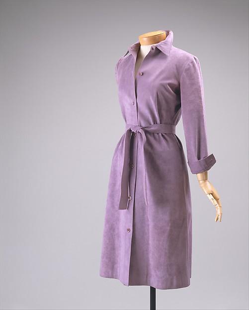 Dress, Halston (American, Des Moines, Iowa 1932–1990 San Francisco, California), Ultrasuede, American
