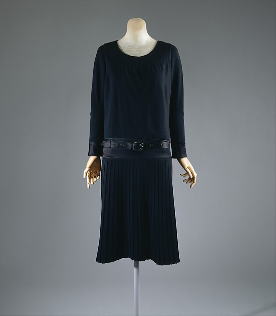 Ensemble, House of Chanel (French, founded 1913), silk, wool, metal, French