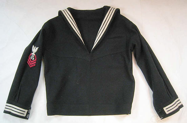 Uniform, a) wool, synthetic; b) wool, plastic; c) cotton; d-f) wool, cotton, American