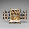 Reliquary Shrine, Attributed to Jean de Touyl (French, died 1349/50), Gilt-silver, translucent enamel, paint, French