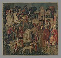 The Unicorn is Killed and Brought to the Castle (from the Unicorn Tapestries), Wool warp with wool, silk, silver, and gilt wefts, South Netherlandish