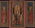 Altar Shrine with Madonna and Child with Donor, Tempera and oil on wood, South German