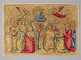 The Ascension, Silk on canvas, Italian