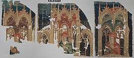 Fragments (from the Nine Heroes Tapestries), Wool warp, wool wefts, South Netherlandish