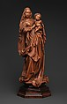 Standing Virgin and Child, Attributed to Niclaus Gerhaert von Leyden (North Netherlandish, active Strasbourg, ca. 1462–died 1473 Vienna), Boxwood, tinted lips and eyes, Austrian