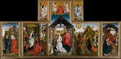 The Nativity, Workshop of Rogier van der Weyden (Netherlandish, Tournai ca. 1399–1464 Brussels), Tempera and oil on wood, South Netherlandish