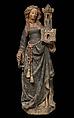 Saint Barbara, Limestone, paint, gilt, North French