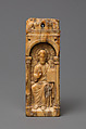 Reliquary Plaque with Christ Blessing, Walrus ivory, German