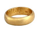 "Posy Ring ""I Like My Choyse"", Gold, British"
