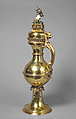 Ewer, Silver gilt, enamel, and paint, German