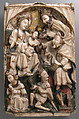 Adoration of the Magi, Alabaster with paint and gilding, British