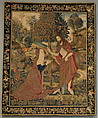The Resurrected Christ Appearing to Mary Magdelene in the Garden, Wool warp;  wool, silk, and gilt wefts, South Netherlandish