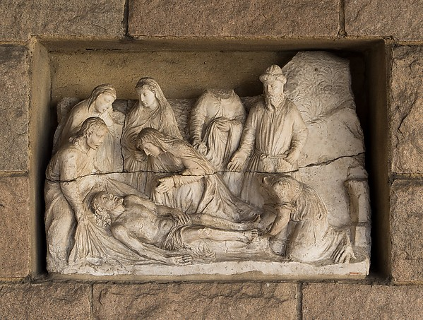 The Entombment (from Scenes from the Passion of Christ), Stone, French
