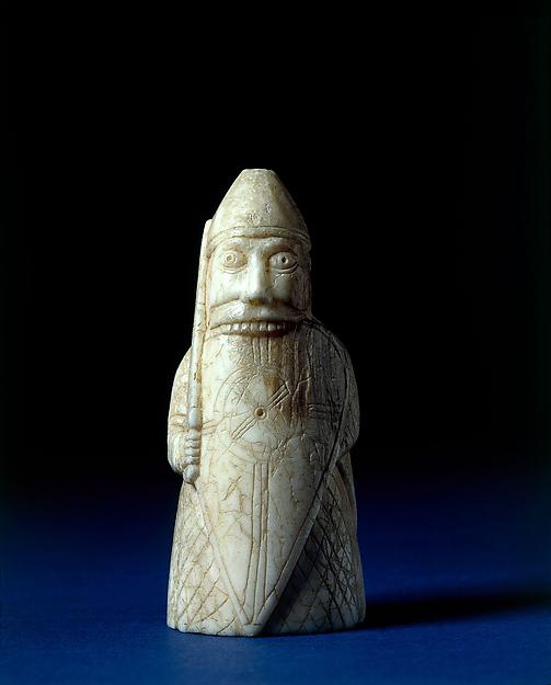 Berserker, Walrus ivory, Scandinavian