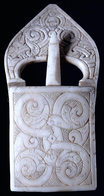 Belt Buckle, Walrus ivory, Scandinavian