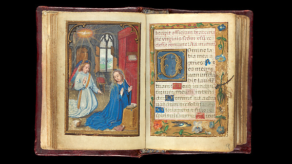 Book of Hours, Simon Bening (Netherlandish, Ghent (?) 1483/84–1561 Bruges), Tempera, gold, and ink on parchment; modern red leather binding, Netherlandish
