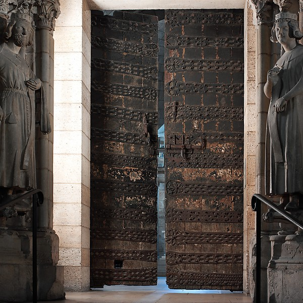One of Two Doors with Ironwork, Oak and iron, French or Spanish
