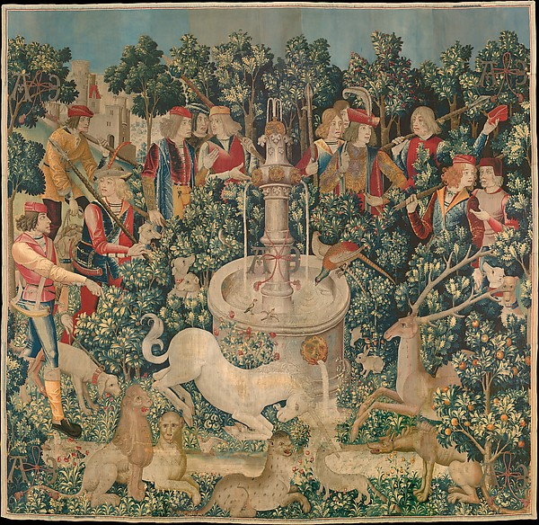 The Unicorn is Found (from the Unicorn Tapestries), Wool warp with wool, silk, silver, and gilt wefts, South Netherlandish