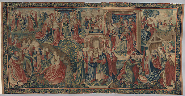 Christ Is Born as Man's Redeemer (Episode from the Story of the Redemption of Man), Wool warp; wool and silk wefts, South Netherlandish