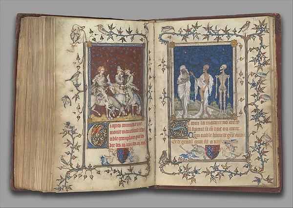 The Prayer Book of Bonne of Luxembourg, Duchess of Normandy, Attributed to Jean Le Noir (French, active 1331–75)  , and Workshop, Tempera, grisaille, ink, and gold on vellum, French