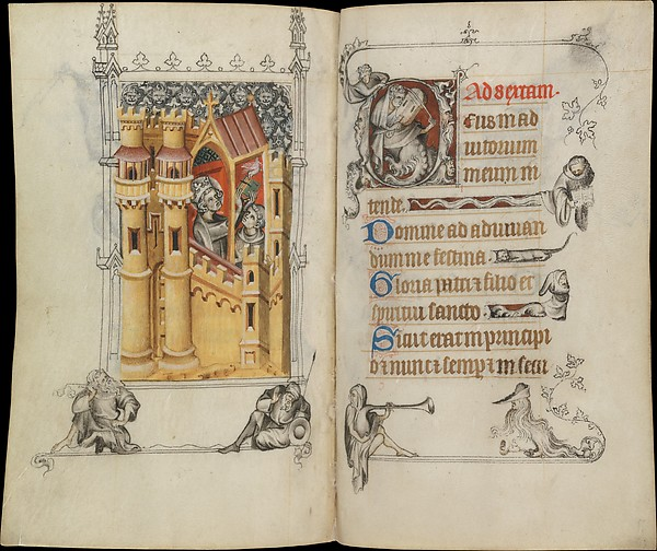 The Hours of Jeanne d'Evreux, Queen of France, Jean Pucelle (French, active Paris, 1319–34), Grisaille, tempera, and ink on vellum, French