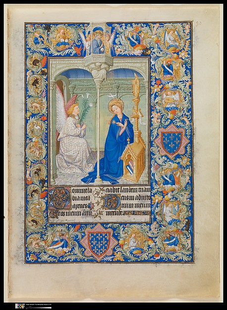 The Belles Heures of Jean de France, duc de Berry, The Limbourg Brothers (Franco-Netherlandish, active France, by 1399–1416), Tempera, gold, and ink on vellum, French