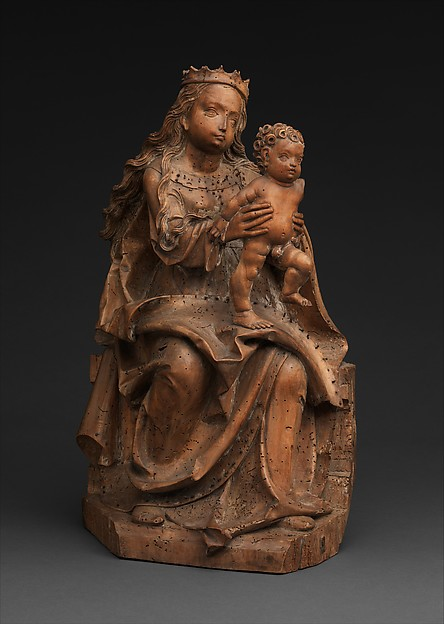 Virgin and Child, Master of Rabenden (German, active ca. 1500–1530), Limewood with traces of polychromy, German