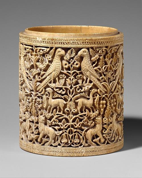 Pyxis, Elephant ivory, Spanish