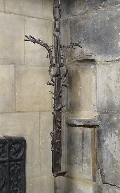 Trammel Hook (Crémaillère), Wrought iron, French or Spanish