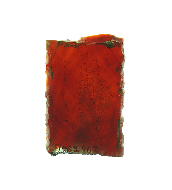 Glass Fragment, Pot metal glass, vitreous paint, French