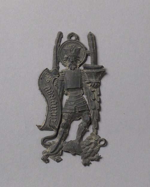 Pilgrim's Badge representing Saint Adrian, Lead alloy, South Netherlandish