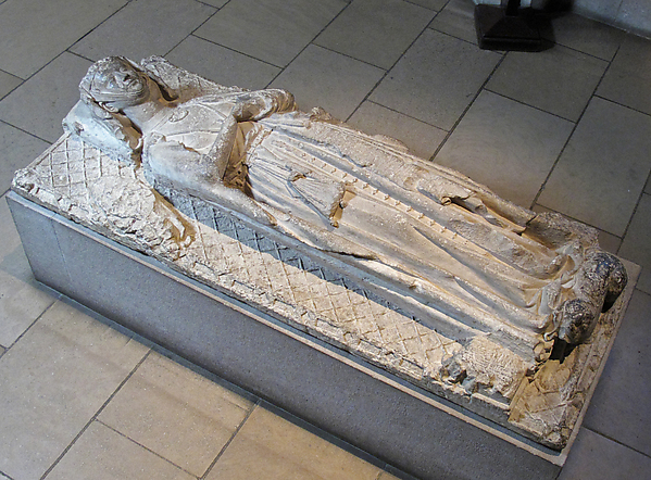 Tomb Effigy of a Lady, Limestone, French
