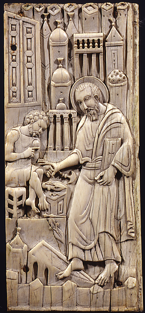 Ivories of the So-Called Grado Chair: Saint Mark Healing Anianos, Ivory