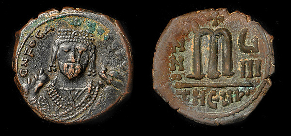 Follis of Phocas (Focas), Copper