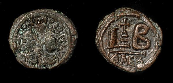 12 Nummi of Heraclius, Copper