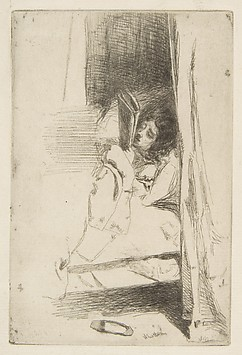 Reading in Bed (The Slipper)
