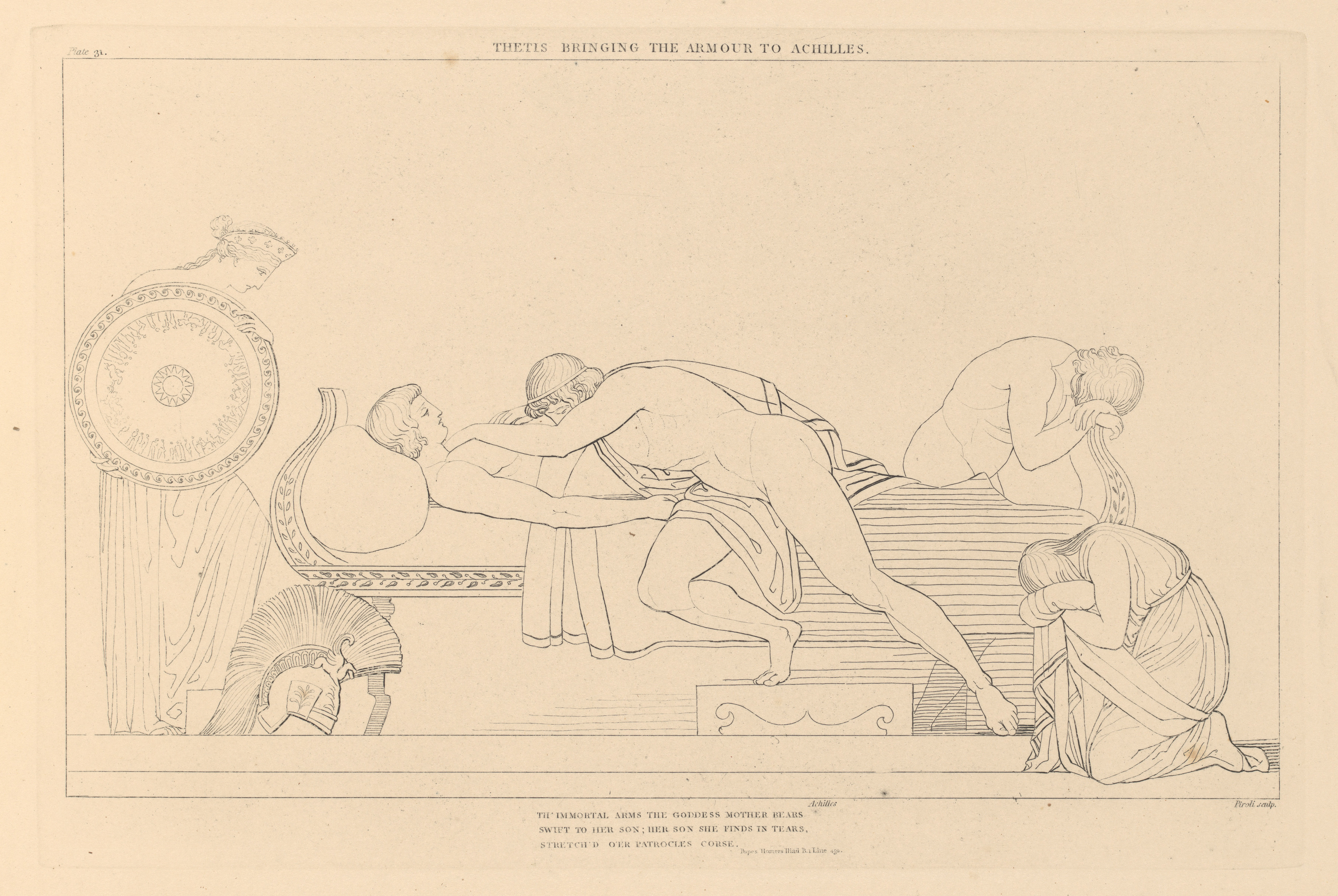 The Iliad of Homer Engraved From the Compositions of John Flaxman, R.A., Sculptor
