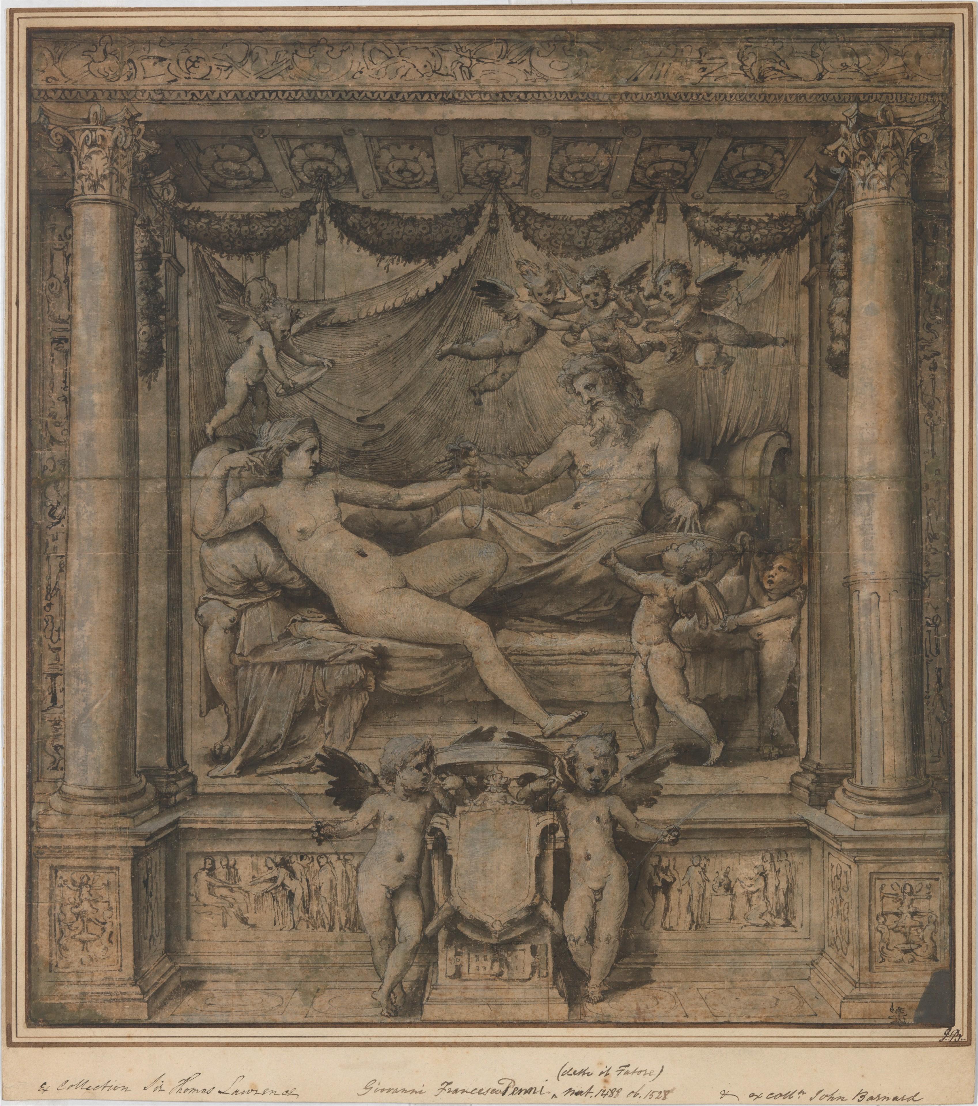 Perino Del Vaga Pietro Buonaccorsi Jupiter And Juno