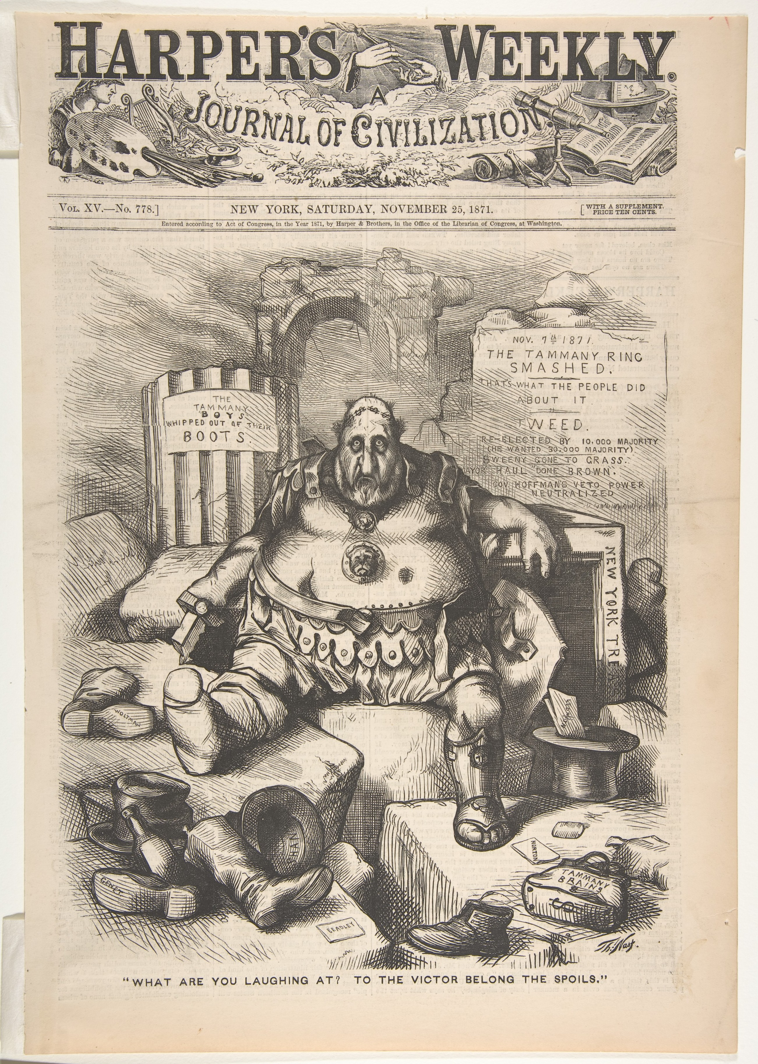 Thomas Nast What Are You Laughing At To The Victor